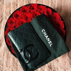 Chanel • So Black Cambon Lambskin Quilted Wallet